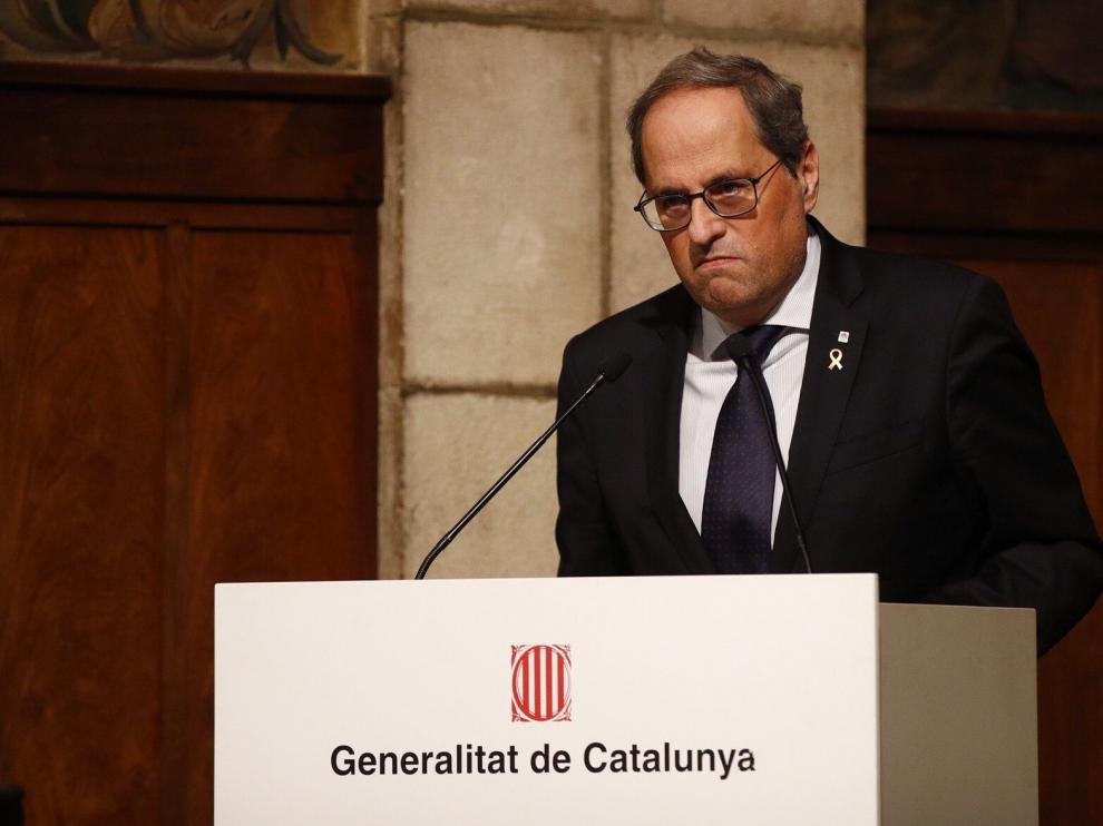 Torra, en la entrega de los premios de Turismo de Cataluña.