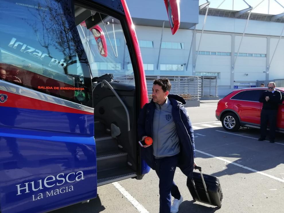 Míchel Sánchez, antes de partir hacia León.