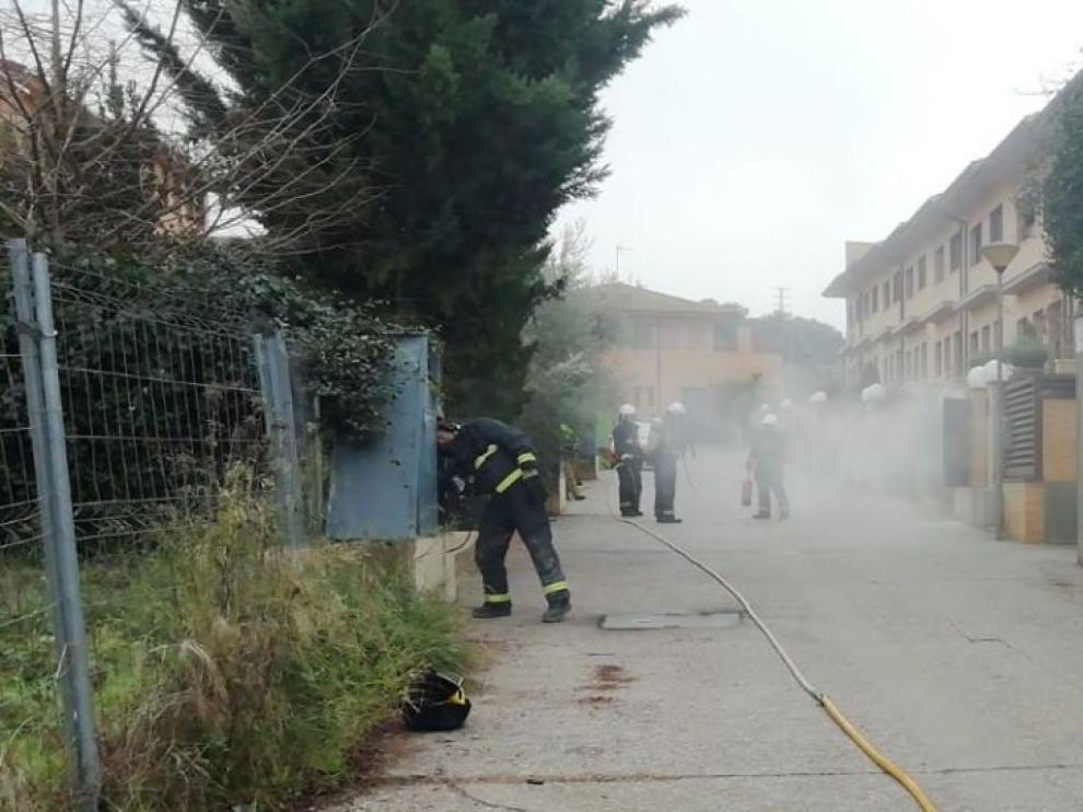 El incidente ha obligado a actuar a los bomberos de Barbastro.