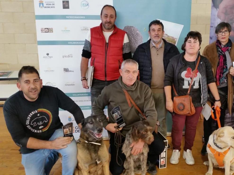 Los ganadores de los concursos celebrados en la Feria de la Trufa de Vera de Moncayo.