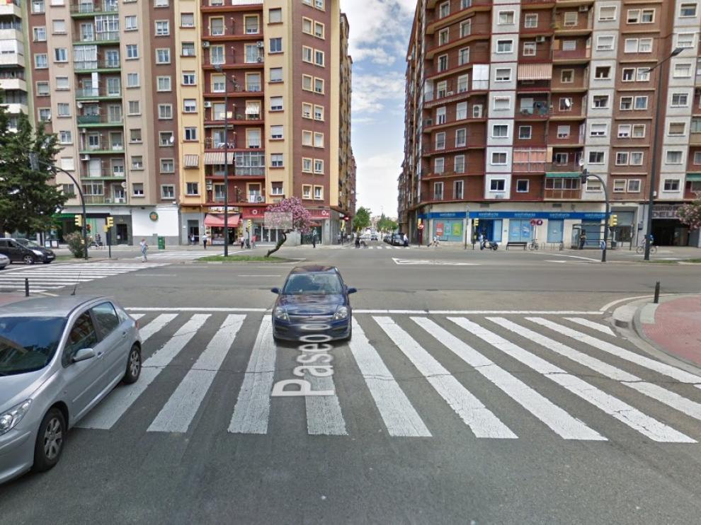 El accidente se ha producido en la confluencia entre la avenida de Navarra y el paseo de Calanda