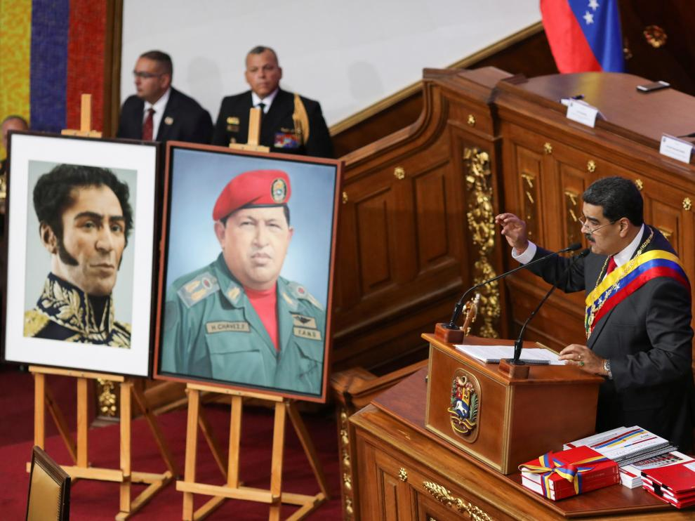 Venezuela's President Nicolas Maduro delivers his annual state of the nation speech during a special session of the National Constituent Assembly, in Caracas, Venezuela January 14, 2020. REUTERS/Manaure Quintero TPX IMAGES OF THE DAY [[[REUTERS VOCENTO]]] VENEZUELA-POLITICS/