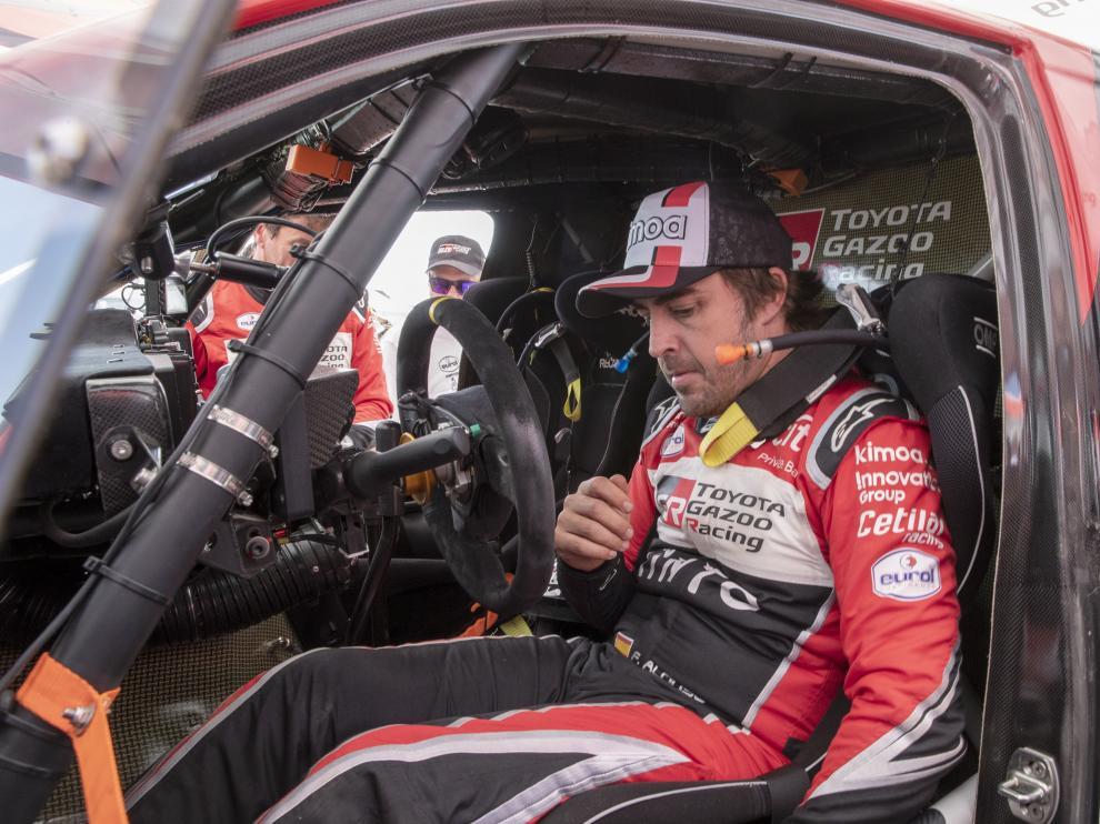 Fernando Alonso, en la octava etapa del Dakar.