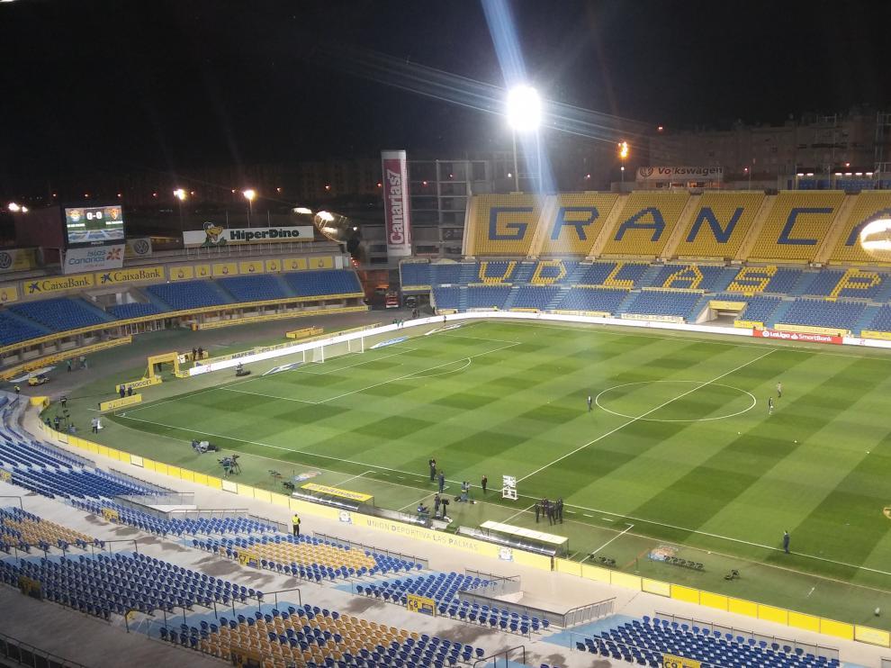 Imagen del Estadio Gran Canaria donde Las Palmas recibe al Real Zaragoza.