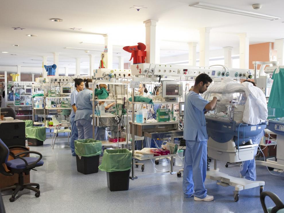 Imagen de archivo de la unidad de niños prematuros del hospital Miguel Servet.