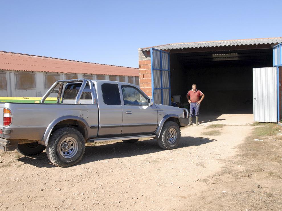 Explotación de Torrijo del Campo en la que se produjo el robo de un tractor en septiembre de 2011.