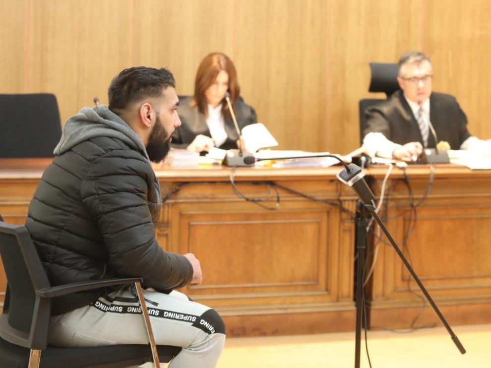 El acusado, Cristian V.V., durante el juicio celebrado este miércoles en Huesca.