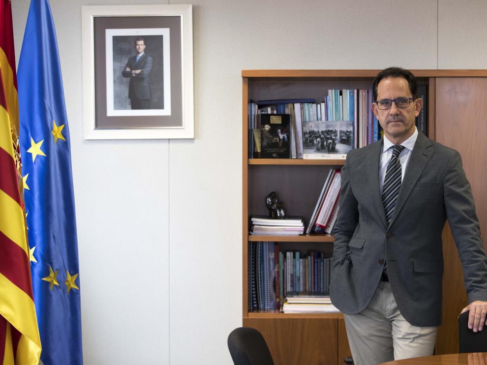 Román García Oliver, director territorial de la Inspección de Trabajo en Aragón.