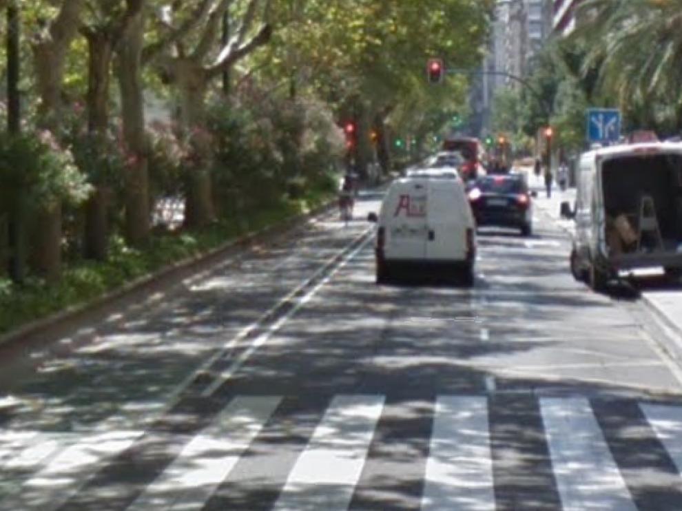 Atropello de un patinete a una mujer en Zaragoza