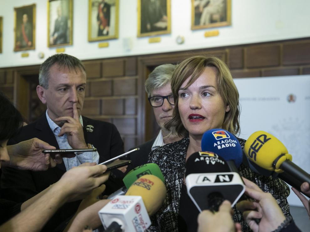 RUEDA DE PRENSA PSOE , ZEC Y PODEMOS / AYUNTAMIENTO DE ZARAGOZA / 17/10/2019 / FOTO : OLIVER DUCH [[[FOTOGRAFOS]]] [[[HA ARCHIVO]]]