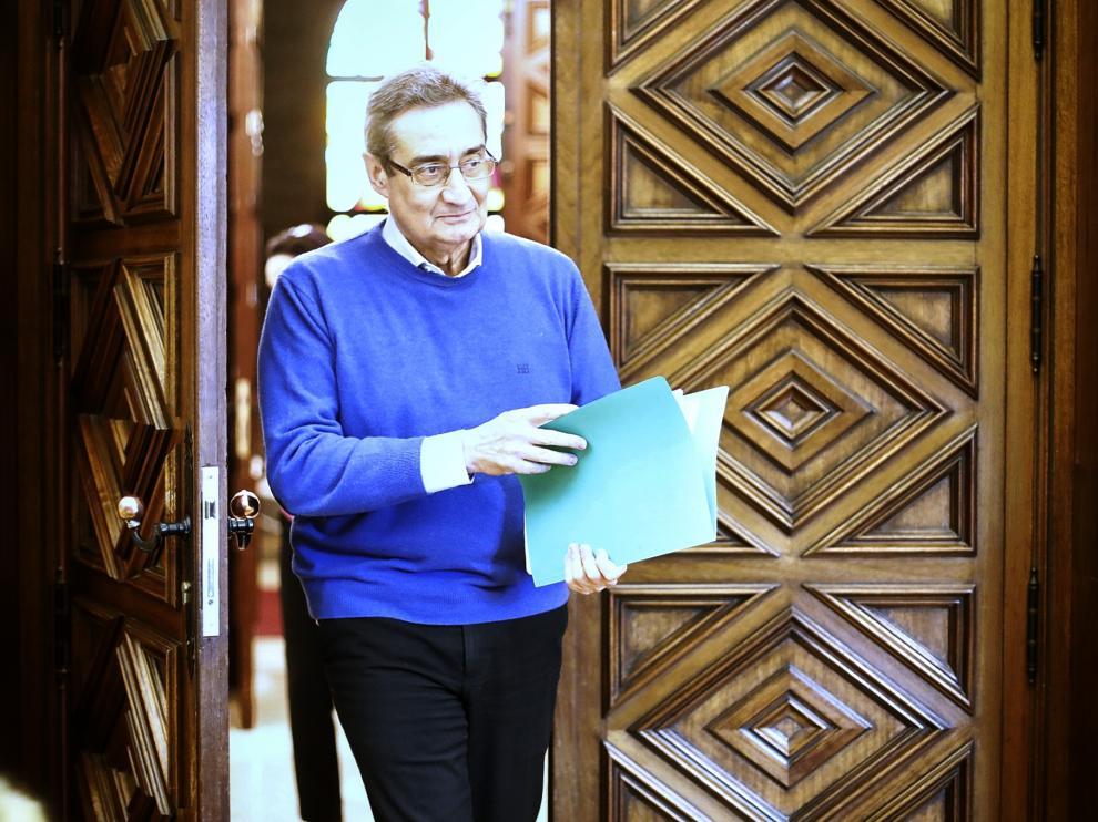 Julio Calvo, este jueves en el Ayuntamiento de Zaragoza.