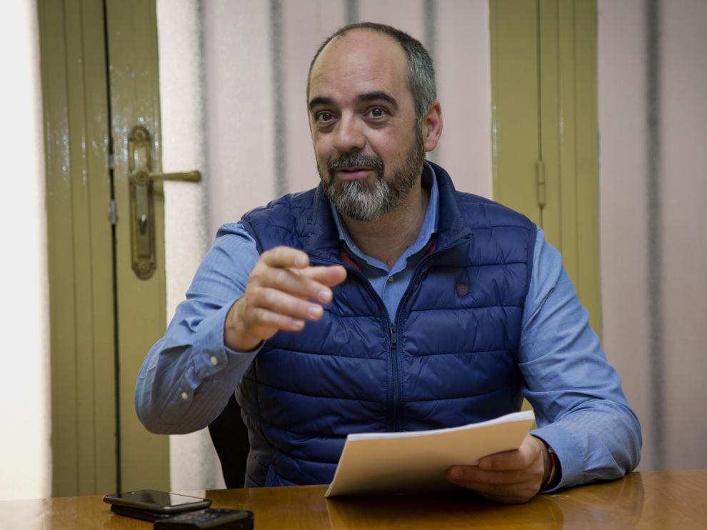Luis Esteban, durante su comparecencia.