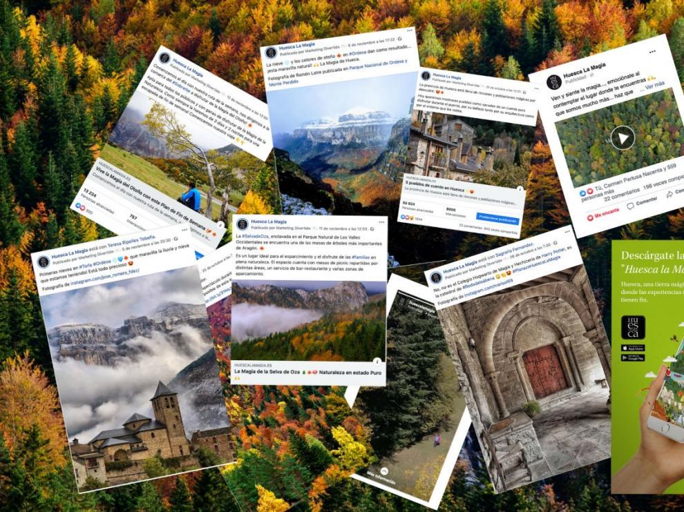 Algunos de los mensajes lanzados por Tu Huesca en su campaña.