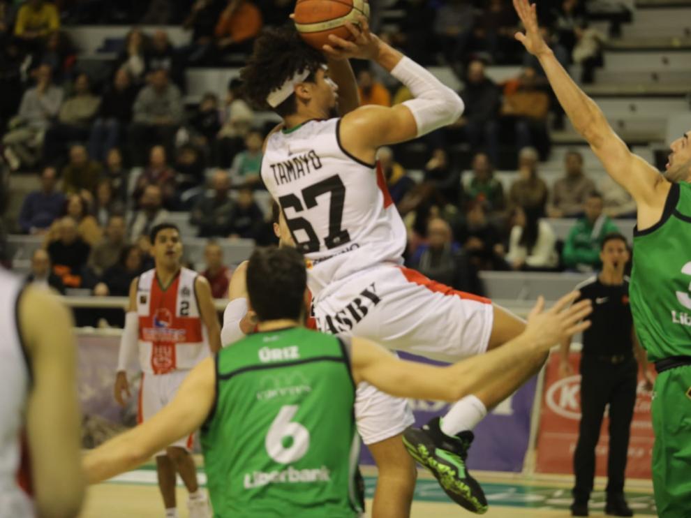 Tamayo, durante el partido de este viernes ante el Cáceres.