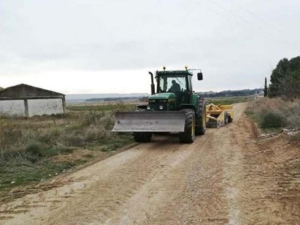 . Nuevas obras en caminos rurales de Ejea