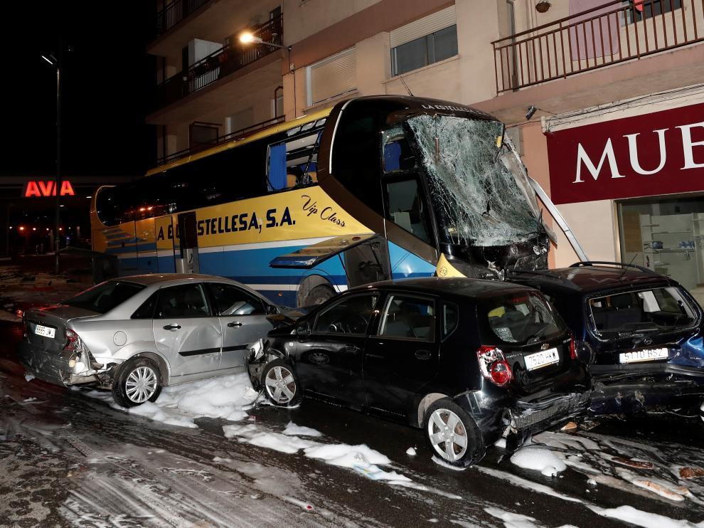 Un menor muerto y su hermano crítico arrollados por un autobús en Estella