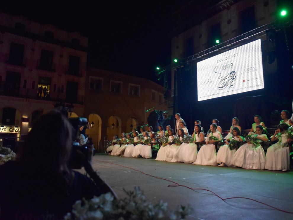 Presentación de las mairalesas de las últimas fiestas de San Lorenzo.