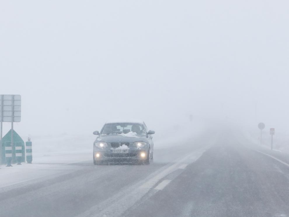 El temporal de frío, viento y nieve afecta principalmente al sur de teruel