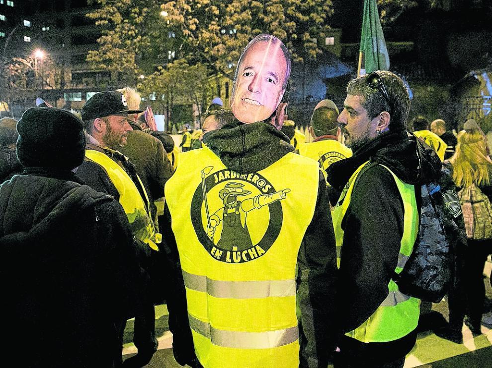 Los trabajadores de FCC se manifestaron el pasado jueves por las calles de Zaragoza