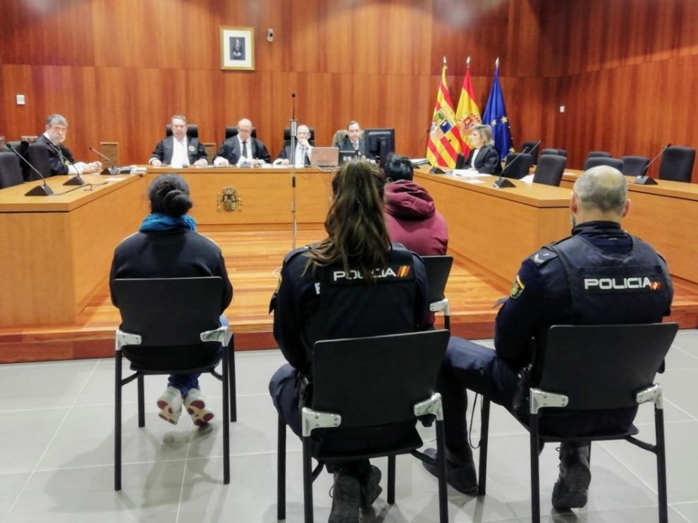 El acusado, este lunes en la Audiencia Provincial de Zaragoza.
