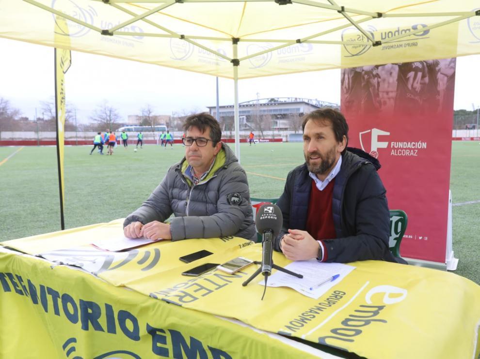 Javier Cruz y Jorge Blasco, durante la presentación de esta iniciativa.