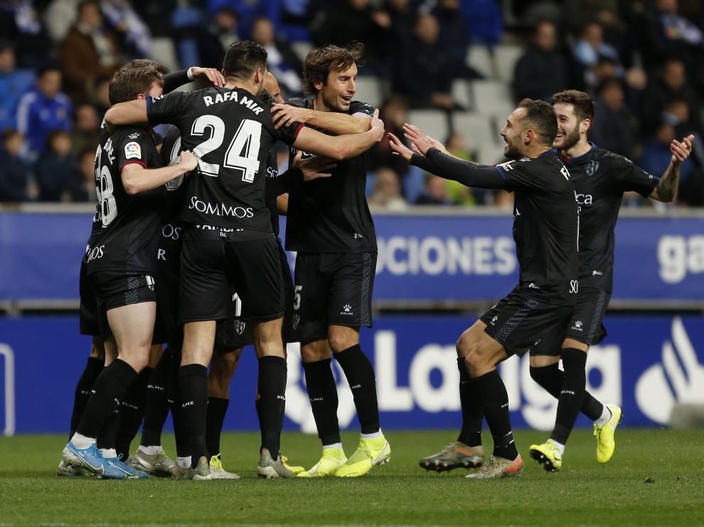 Real Oviedo VS SD Huesca en el Carlos Tartiere el 19 de enero de 2020. (Foto: Luis Manso)