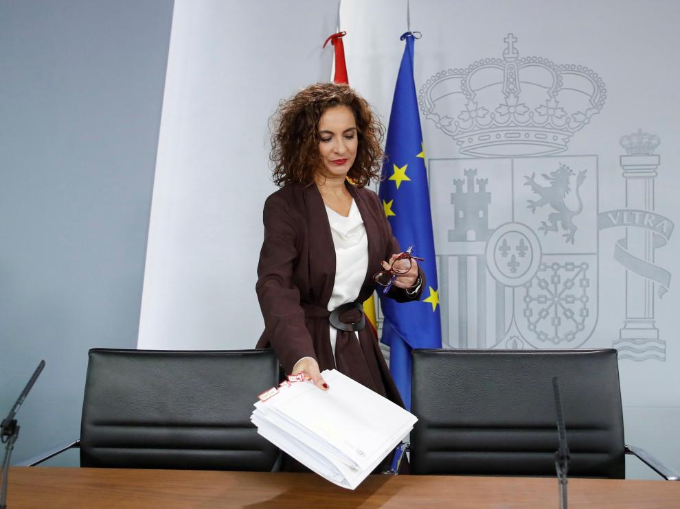 La ministra de Hacienda y portavoz del Gobierno tras el Consejo de Ministros de este martes