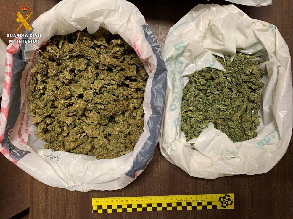 Cogollos de marihuana que portaba el menor detenido entre Cuarte y Cadrete