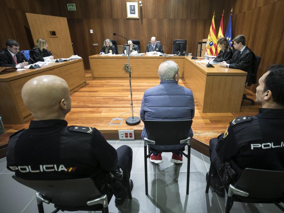 El acusado, durante la vista celebrada este miércoles en la Audiencia Provincial de Zaragoza.