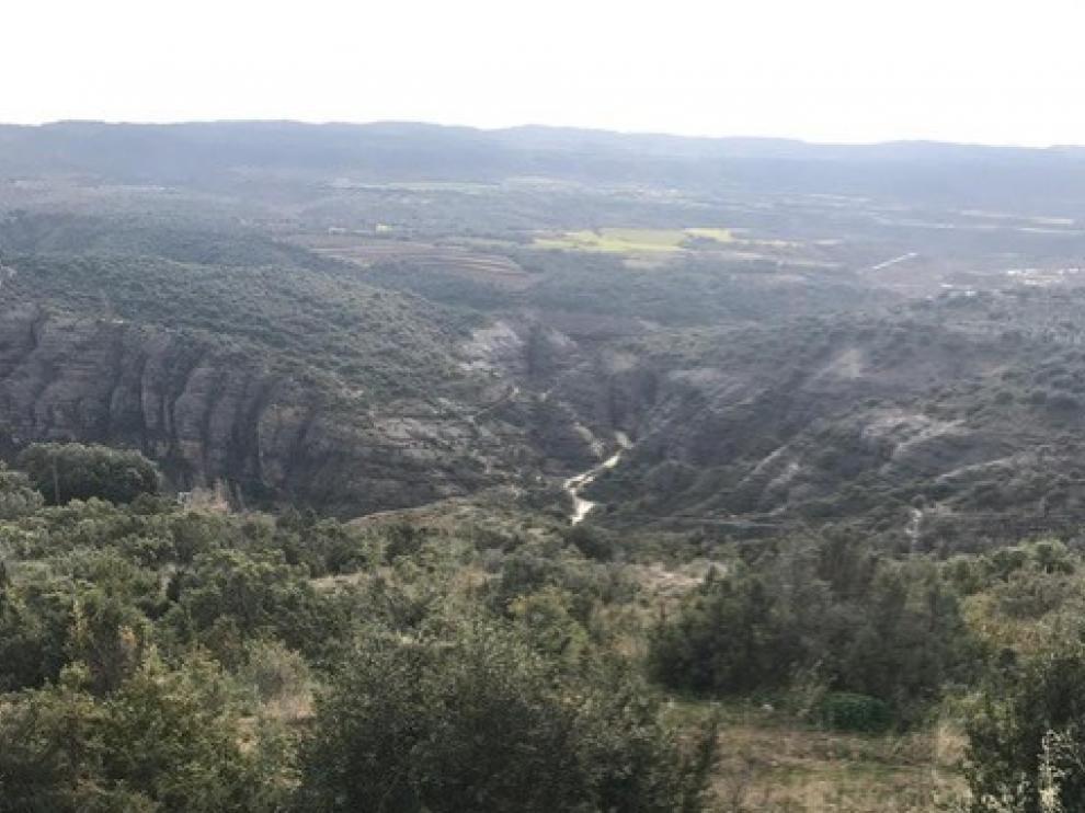 La tirolina recorrerá el barranco del Vero en Alquézar.