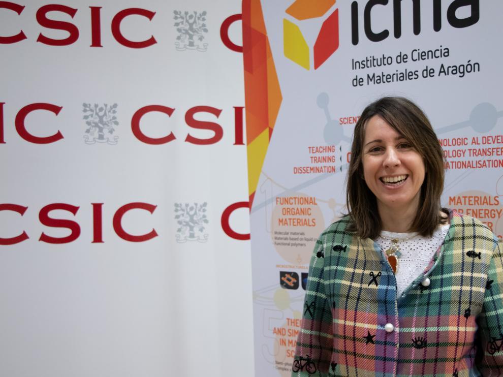 La investigadora María Moros.