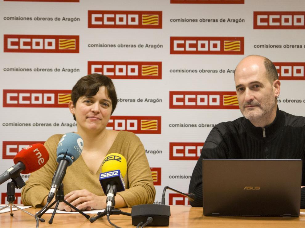 Tania González y Paco González durante la rueda de prensa de este jueves.
