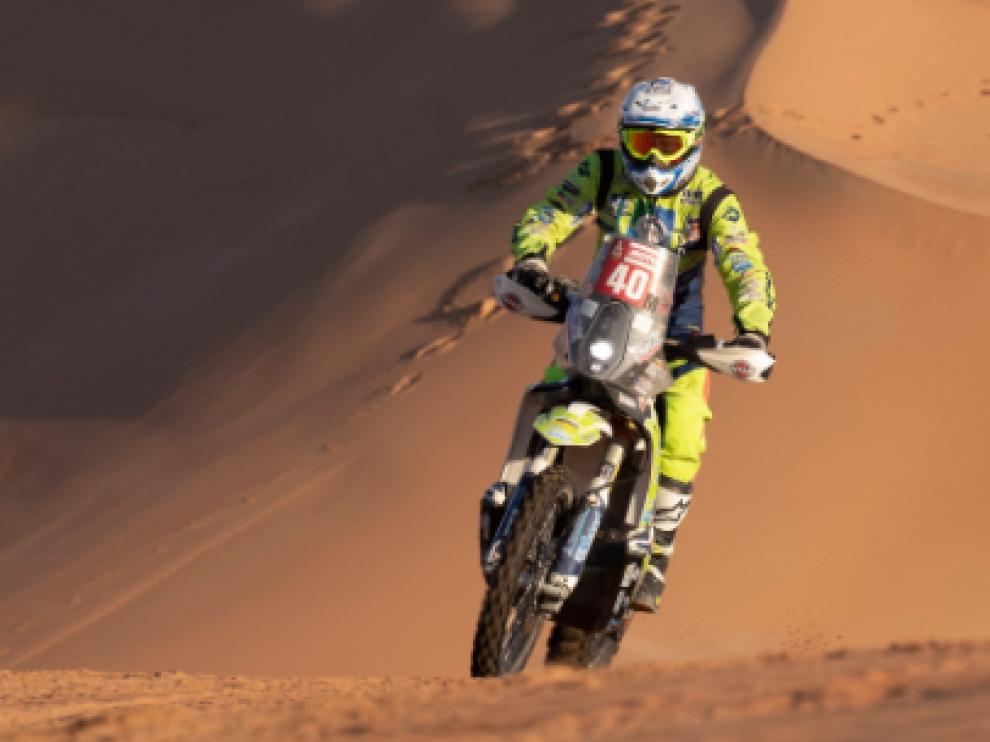 Edwin Straver, durante el pasado rally Dakar.