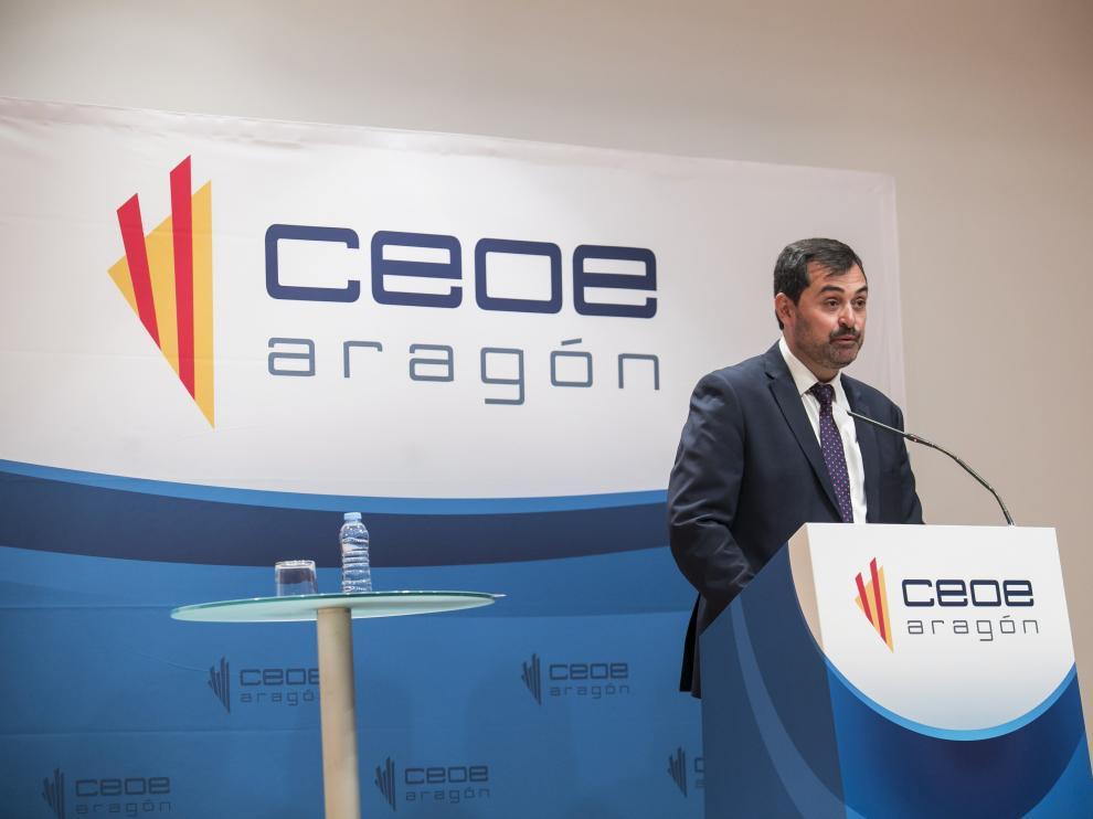 Ricardo Mur, presidente de CEOE Aragón, cree que muchas empresas no podrán asumir el coste de la subida del salario mínimo