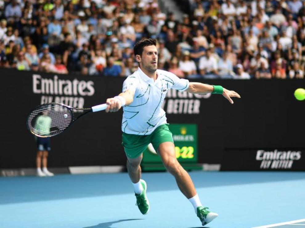 Djokovic, que no tuvo problema para despachar al argentino Diego Schwartzman (6-3, 6-4 y 6-4)