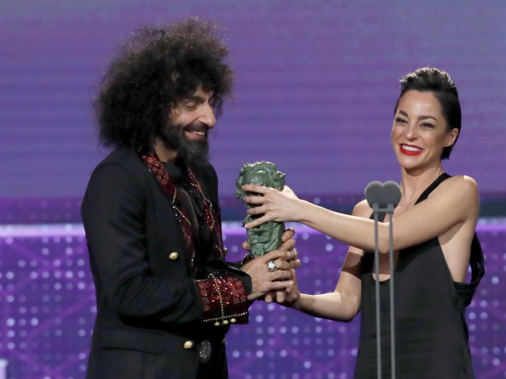 Natalia Moreno y Ara Malikian, en la gala de los Goya.