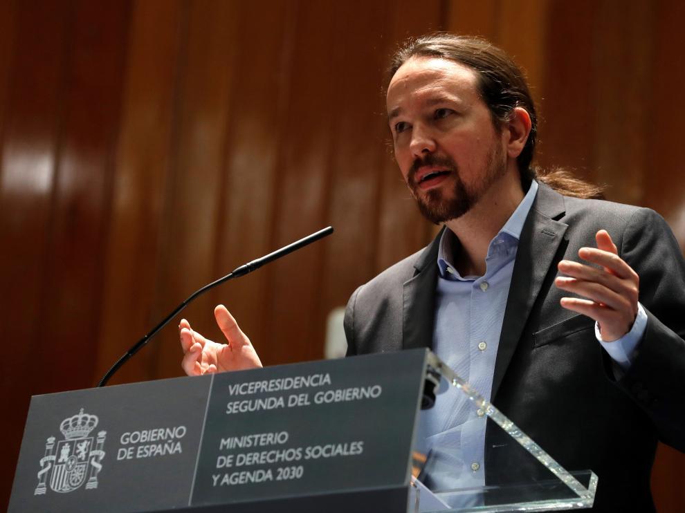 Pablo Iglesias, vicepresidente del Gobierno.