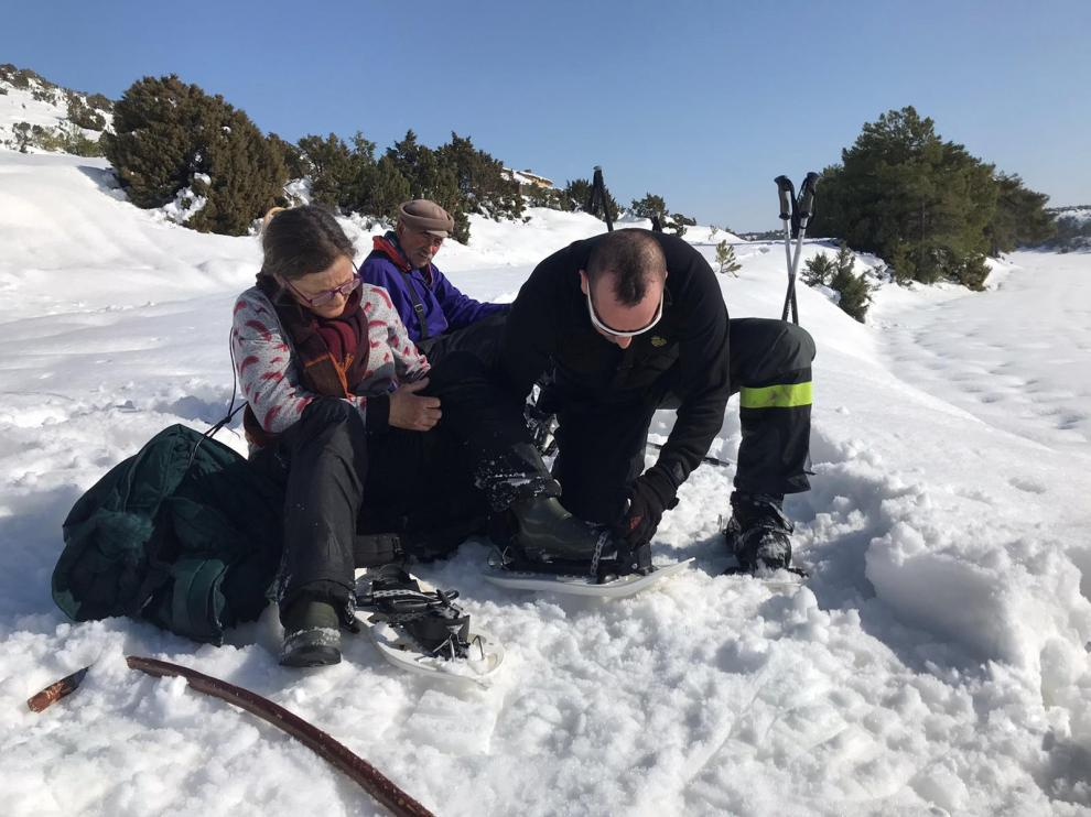 Rescate en Ejulve (Teruel).