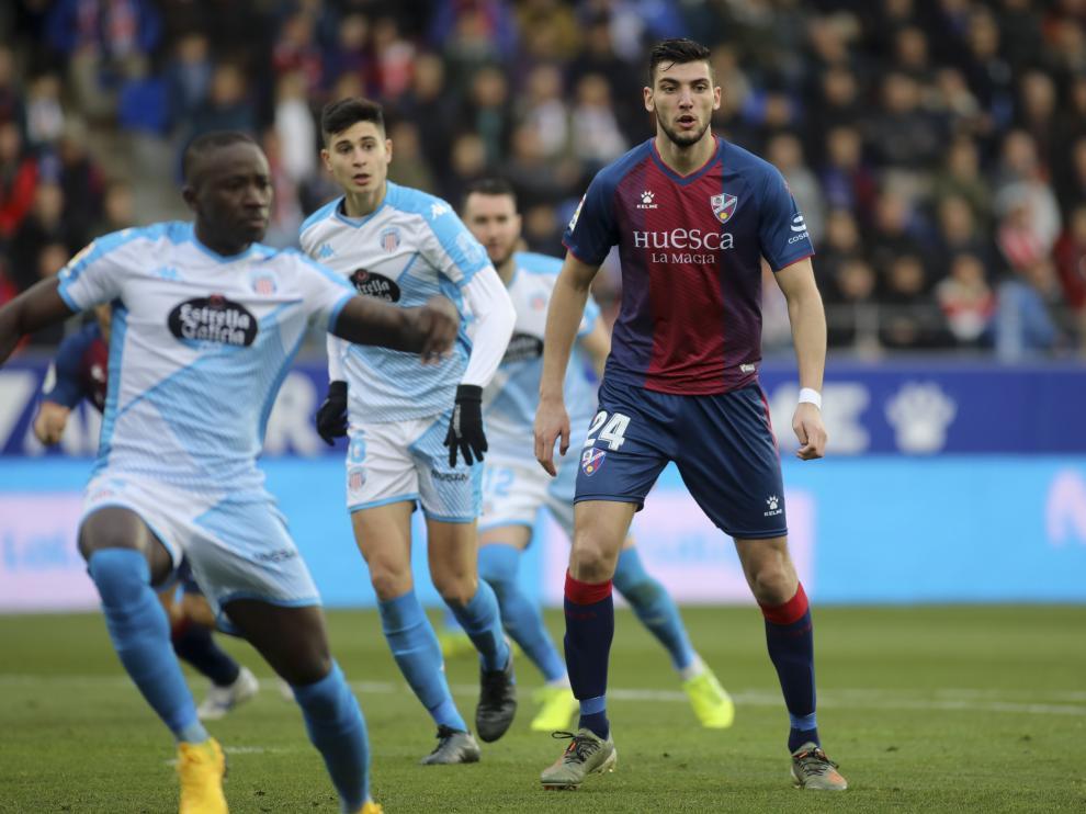 Rafa Mir, en un lance del partido del pasado sábado ante el Lugo.