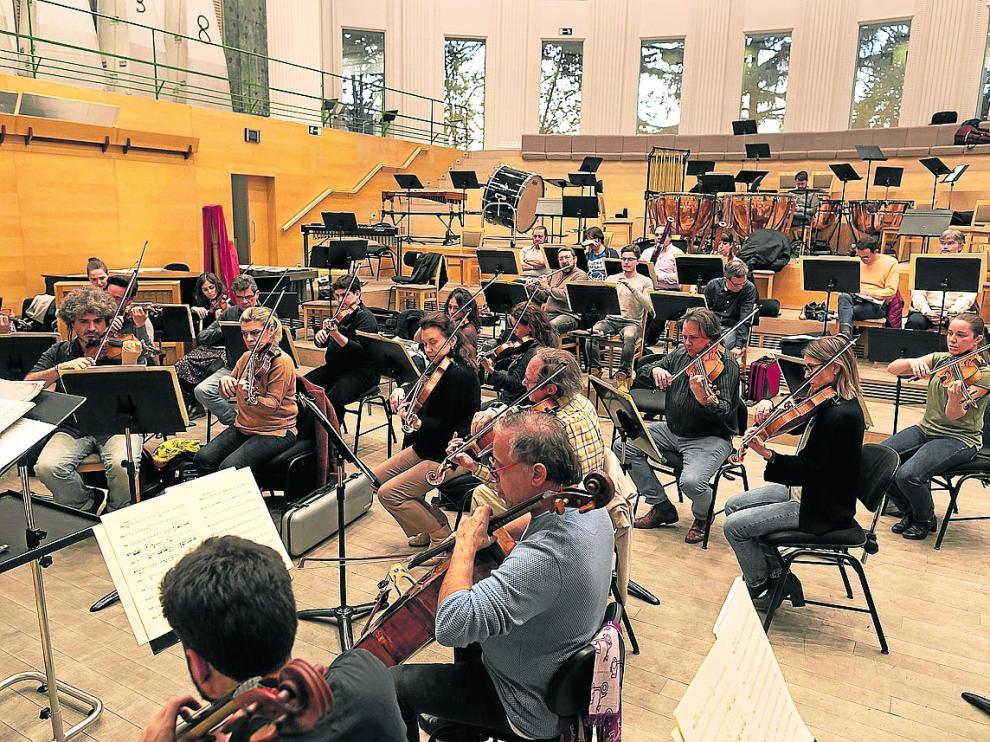 Ensayo de la Orquesta Clásica de España, en Madrid
