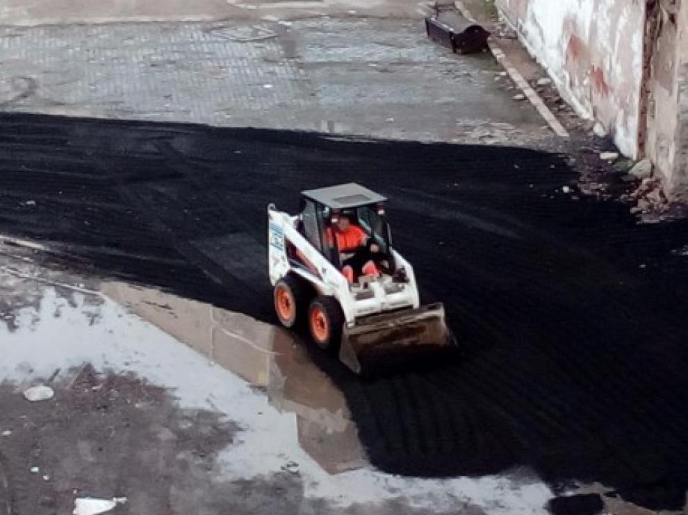 Las obras han comenzado por el aparcamiento de Sixto Celorrio