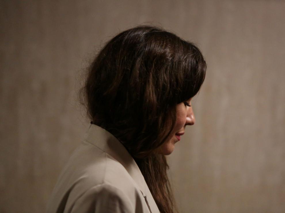 Miriam Haley a su llegada al juicio