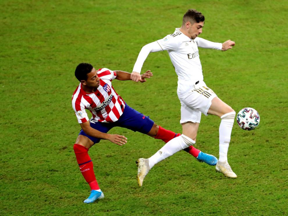 Fede Valverde, en la Supercopa de España contra el Atlético.
