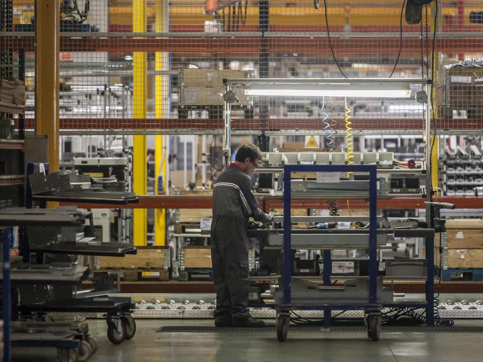 Imagen de archivo de 2017 de la planta de Schindler en el polígono Empresarium de Zaragoza
