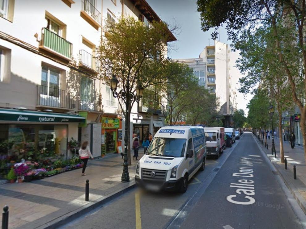 La detención se produjo en el centro histórico de Zaragoza, en la calle de San Félix