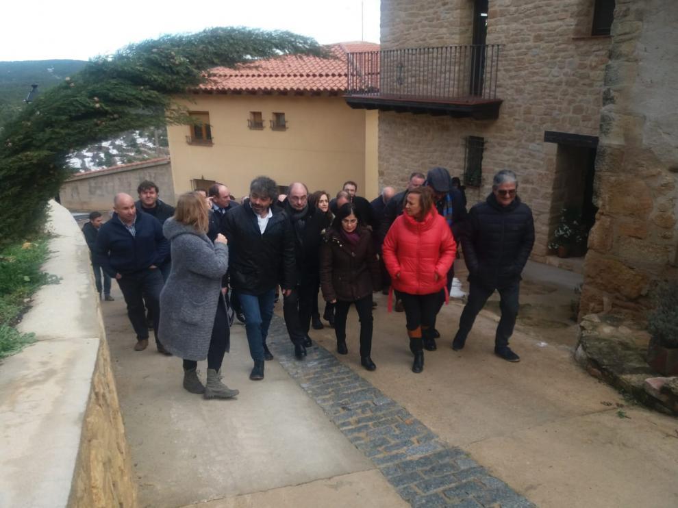 La ministra Carolina Darias, a su llegada a Monroyo.
