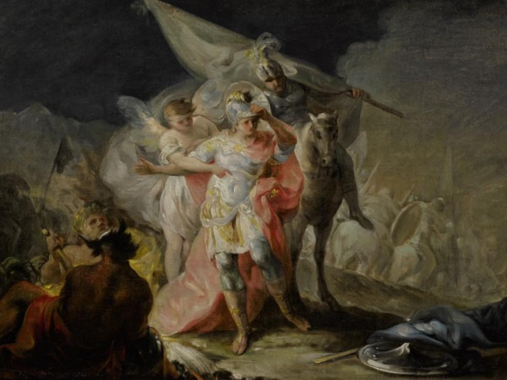 El boceto formó parte de la muestra 'Goya e Italia', celebrada en 2008 en el Museo de Zaragoza