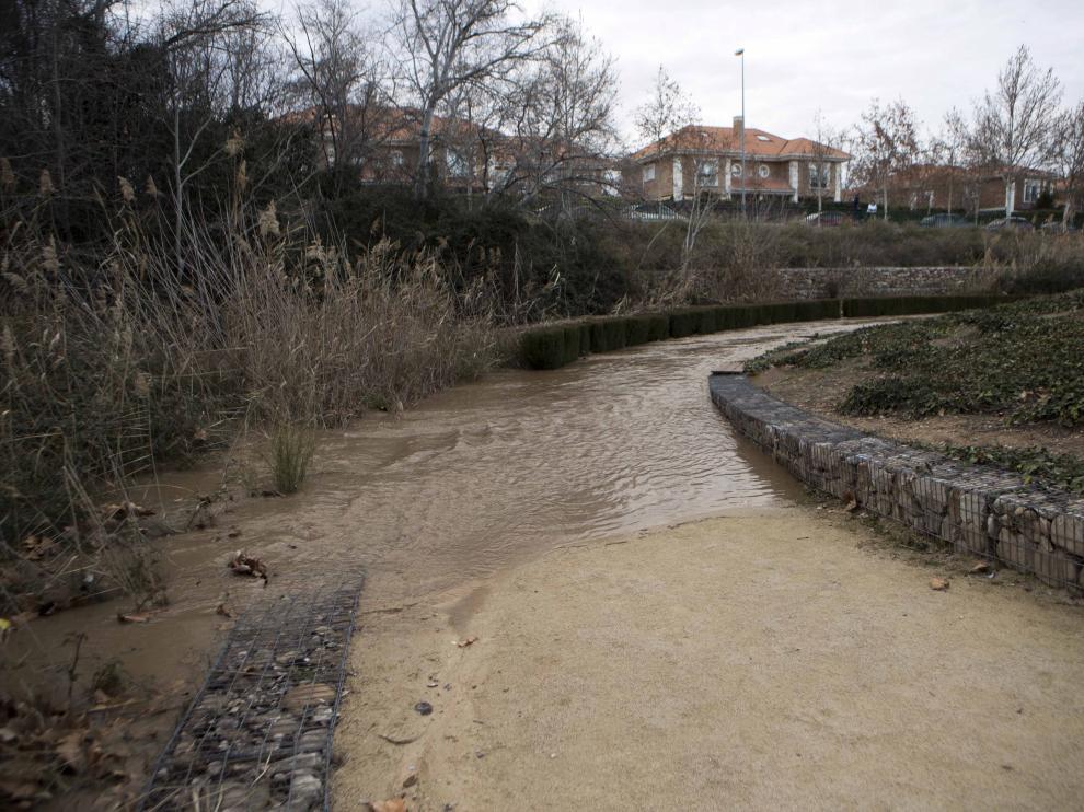 Río Huerva a su paso por Cuarte.