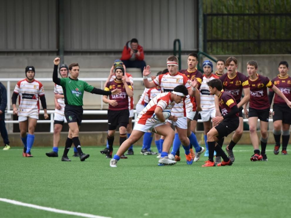 Selección aragonesa de rugby sub16-18.