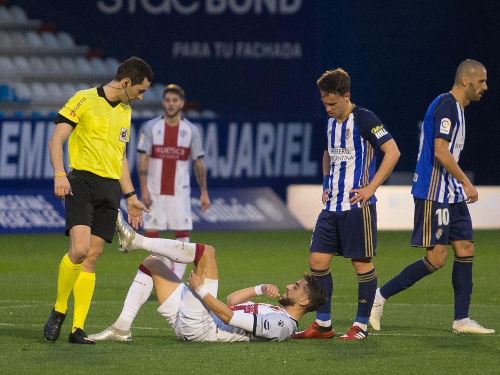 Ponferrada. Liga Smartbank de futbol. Estadio de El Toralin. SD Ponferradina - SD Huesca
